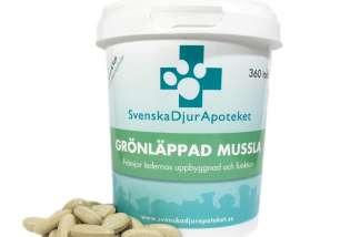 Svenska Djurapoteket Grönläppad mussla 120 tabl